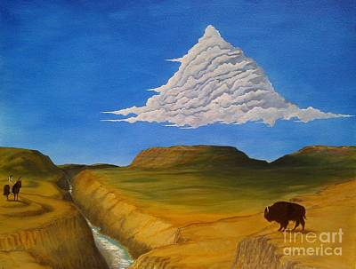 Painting - White Cloud by John Lyes