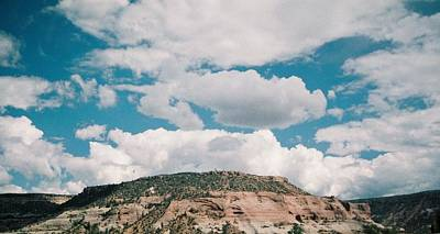 Photograph - White Clouds Over Mesa by Belinda Lee