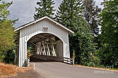 Photograph - White Covered Bridge Hannah Bridge Art Prints by Valerie Garner