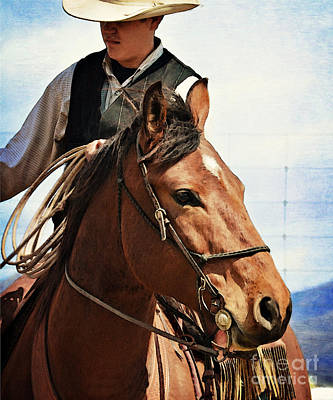Working Cowboy Photograph - White Cowboy Hat by Susie Fisher