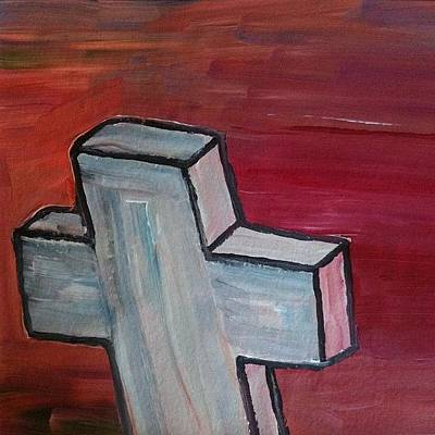Expressionism Wall Art - Photograph - White Cross by Stephen Lock