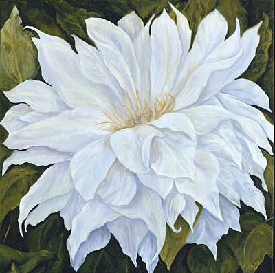 Painting - White Dahlia by Suzie Richey