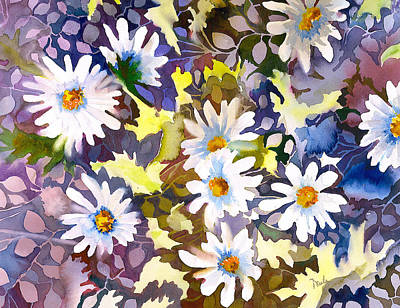 White Daisy Painting - White Daisies by Neela Pushparaj