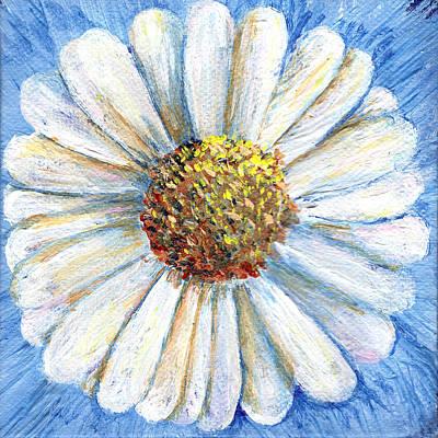 Painting - White Daisy Miniature Painting by Regina Valluzzi