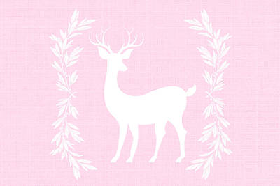 White Deer Art Print by Chastity Hoff
