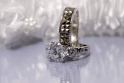 Marquise Photograph - White Diamond Rings by Joe Belanger