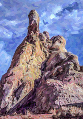 Digital Art - White Dome Rock Valley Of Fire Sp Nevada by Liz Leyden