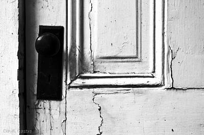 Photograph - White Door by Cindi Castro