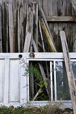 Photograph - White Door by Skip Hunt