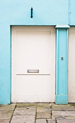 Side Entrance Photograph - White Door by Tom Gowanlock