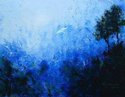 Soaring Painting - White Dove by Kume Bryant