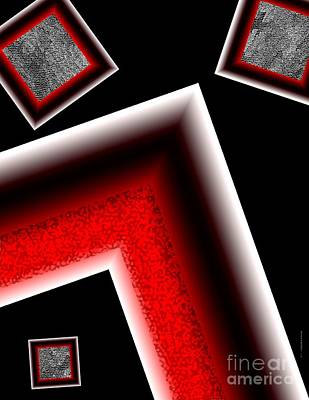 White Edges Geometric Art Art Print by Mario Perez