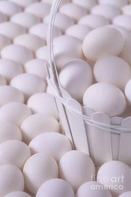 Photograph - White Eggs In Basket by Jim Corwin