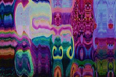 Hidden Objects Painting - White Elephant Abstract World by Anne-Elizabeth Whiteway
