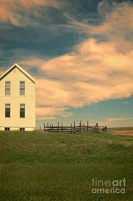Photograph - White Farmhouse And Corral by Jill Battaglia