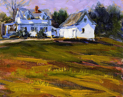 Painting - White Field House by Ken Fiery