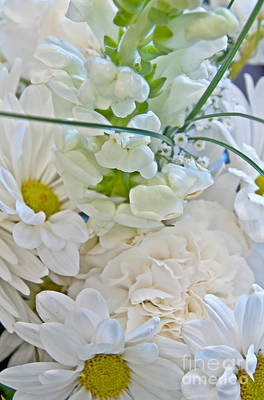 Photograph - White Floral Bouquet Art Prints by Valerie Garner