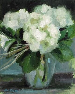 Painting - White Floral by Erin Rickelton