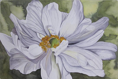 Painting - White Flower Companion by Teresa Beyer