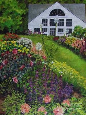 White Flower Farm Art Print by Karen Olson