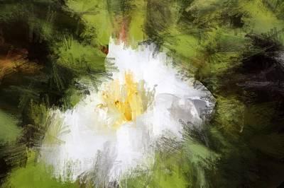 Irena Orlov Painting - White Flower by Irena Orlov