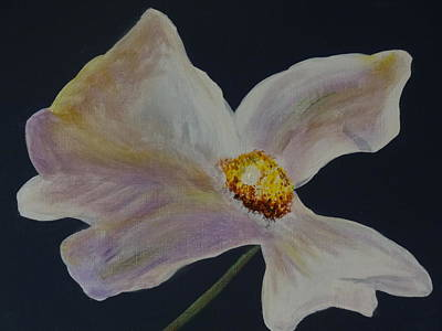 Painting - White Flower by Nancy Fillip