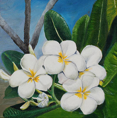 Painting - White Flower by Teresa Smith