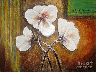 Painting - White Flowers by Elena  Constantinescu