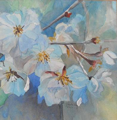 Painting - White Flowers by Paula Day