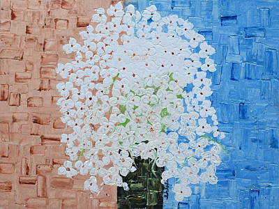 Painting - White Flowers by Shruti Prasad
