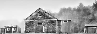 White Foggy Farm Art Print
