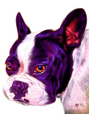 French Bulldog Gifts Painting - White French Bulldog by Iain McDonald