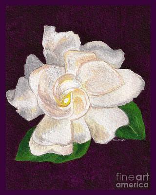 White Gardenia Original by Nan Wright