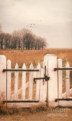 Photograph - White Gate Autumn Landscape by Jill Battaglia