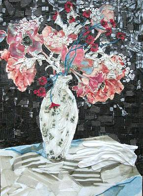 Mixed Media - White Glove by Diane Fine
