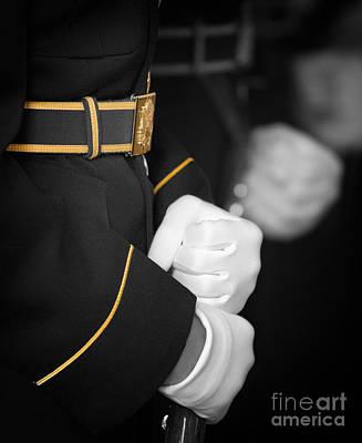 Jefferson Memorial Digital Art - White Gloves Gold Trim by Jerry Fornarotto