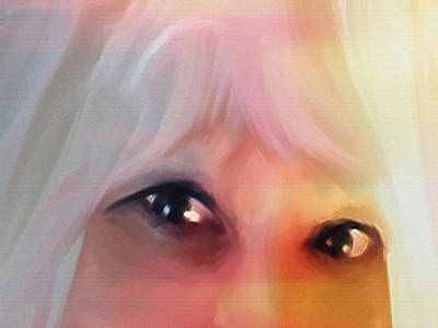 Digital Art - White Hair by Dennis Buckman