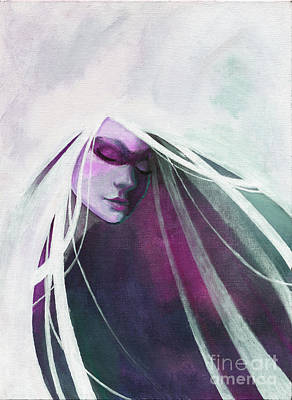 White Haired Girl Art Print by Kyle Walker