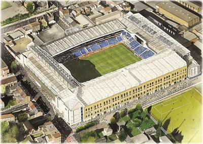 Football Paintings - White Hart Lane - Tottenham Hotspur FC by Kevin Fletcher