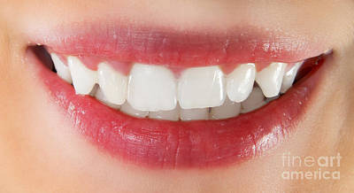 Pure Pleasure Photograph - White Healthy Teeth by Michal Bednarek