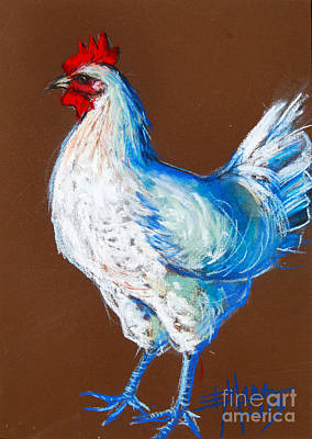 Pastel - White Hen by Mona Edulesco