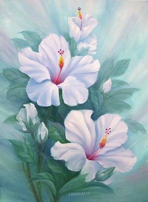 Painting - White Hibiscus by Francine Henderson