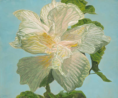 Painting - White Hibiscus by Michael Allen Wolfe
