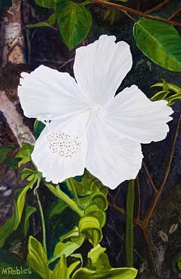 White Hibiscus Art Print