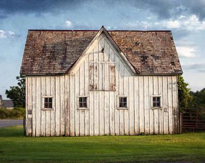 White Horse Barn Landscape Art Print by Lisa Russo