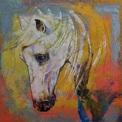 White Horse Art Print by Michael Creese