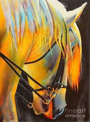 Parade Painting - White Horse by Robert Hooper