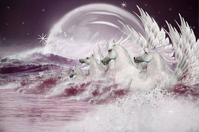 Photograph - White Horses by Ethiriel  Photography