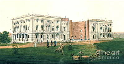 White House After British Attack 1814 Print by Padre Art