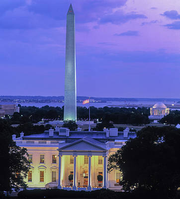 White House At Dusk, Washington Art Print